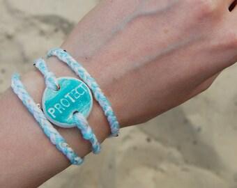 Statement Bracelet Set: Two OOAK Engraved Bracelets - Inspirational Words - Boho Style Artisan Handcrafted