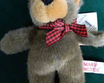 Bear Finger Puppet by Mary Meyer, BUSTER, Tippy Toes, Plush, 1993, Excellent Condition