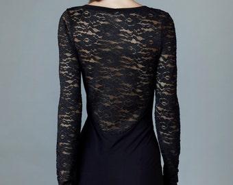 "dress ""euphoria"", black lace"