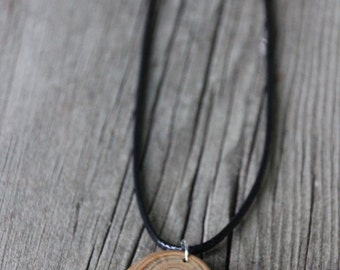 Wood Slice Necklace - Tree Ring Necklace - Wood Slice Pendant - Driftwood Pendant - Rustic Wood Necklace - Bohemian Wood Necklace