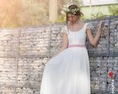 Bohemian Wedding Dress, Boho Bridal Gown, Gypsy Long Bridal Dress, Ivory Wedding Dress, Long Sleeveless Gown - Handmade by SuzannaM Designs