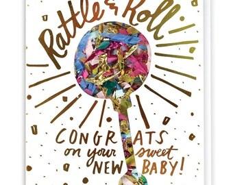 Rattle & Roll Confetti Card