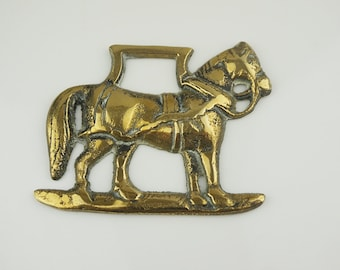 Small Horse Shaped  Horse Brass English Ornament