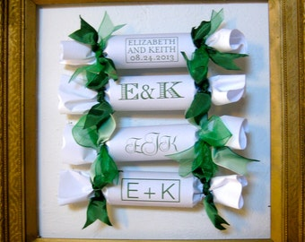 Monogramed Wedding Party Cracker