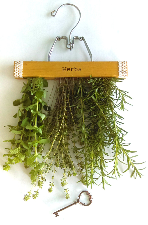 repurposed hanging herb drying rack. Black Bedroom Furniture Sets. Home Design Ideas
