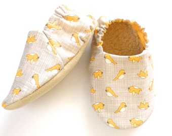 Birds Baby Girl Shoes, Soft Sole Baby Shoes, Baby Booties, Birds Baby Girl Soft Shoes, Slip On Baby Shoes, Baby Girl Gift