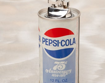 PEPSI LIGHTER  - Totally Cool Vintage Soda Can Lighter from 1973 - 75th Anniversary