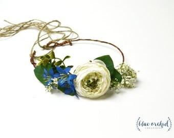 Rustic Flower Crown, Flower Girl Crown, Rustic Wedding, Flower Crown, Silk Flower Crown