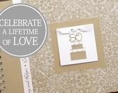50th Anniversary Gift | Golden Wedding Anniversary Gift | 50th Wedding Anniversary | 60th Anniversary Gift | Personalized | Gold Damask