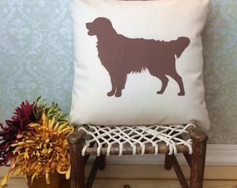 Golden Retriever Pillow Cover, Golden Retriever Art, Golden Retriever Gift, Golden Retriever Silhouette, Dog Breed Silhouette,Pet Silhouette