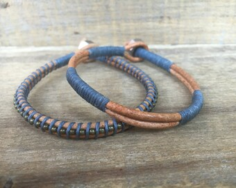 Men's Leather Bracelets, Men's Jewelry, Groomsmen Gifts, Men's Bracelets, Gifts for Him, Handmade Jewelry, Gifts for Husband, Gifts for Dad