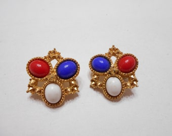 Vintage Sarah Coventry Americana Clip Earrings (6509)