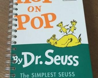 Hop on Pop Dr. Seuss Beginner Books Recycled Journal Notebook