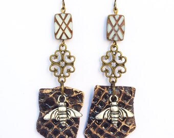 top selling items, Bee jewelry, Bee earrings, Honeycomb jewelry, Honey earrings, Autumn Gift, Bumble Worker, best selling items