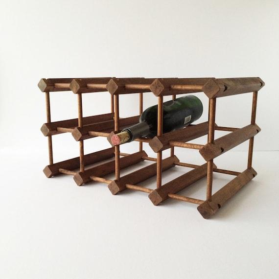 Vintage Wooden Wine Rack Wine Storage Rustic By