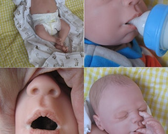 OPEN MOUTH reborn baby boy, Holds full pacifier,Front plate, faux formula bottle, ready to ship!