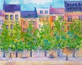 Paris Landscape, Paris Cityscape, Seine River, Paris Watercolor, Watercolor Landscape, Watercolor Cityscape, Loose Watercolor, Painting