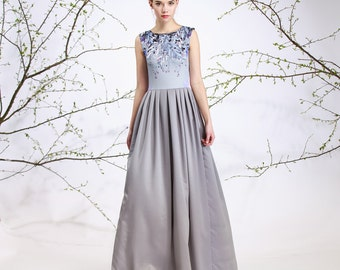 Silver Tendril - maxi dress