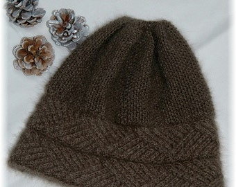 "Hat ""Hernando Island"" for men/women, handknit in pure and luxurious qiviut (Muskox underdown) MADE TO ORDER"
