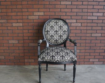 Chair / French Louis Arm Chair / Accent Chair / French Carved Chair  / Cassat Chair by Ethan Allen