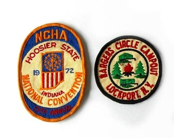 Vintage NCHA Patch 13th Annual National Convention Hoosier State Indiana Bargers Circle Campout Lockport, N.Y.