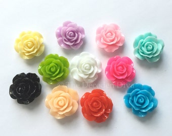 Beautiful Rose Flowers - 10 pcs | DIY Phone Case | Kawaii Decoden Supplies | Resin Cabochons