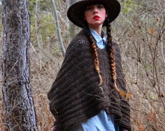 Mountain Poncho / Crochet wool poncho sweaters / 4 ways to wear / Shawl / Bolero / Sweater / Winter Fashion trends 2016 / NY Merino Wool