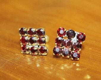 SALE! Antique Victorian Exquisite Garnet Bohemian Earrings E11