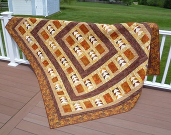 Quilt, Price REDUCED!! - Guild Made Flying Geese, Autumn Migration, Queen, Rustic Cabin Country Primitive Folk ~ BreezyJunction.etsy.com