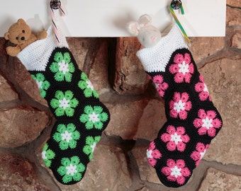 Clearance! Lime Green Christmas Stocking, Unique Christmas Stocking for girls, tweens, teens and more!