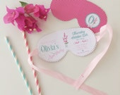 Spa Party Invitation - Spa Mask Invitation - pink, mint, girl party -  Printable File - PDF