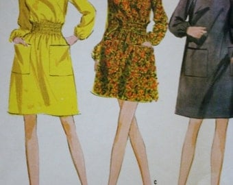 Four Section Pant-dress /Sewing Pattern /McCalls 9351 /1960s /Bust 36