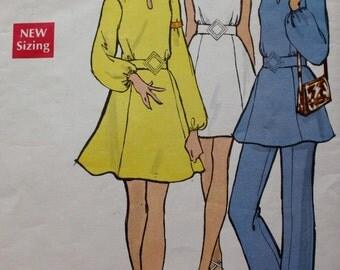 Vogue 7796 Mini Dress Tunic or Pants Sewing Pattern Bust 31.5