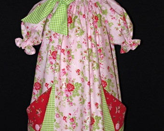 Peasant dress with pockets size 4 ready to ship MADE in the USA