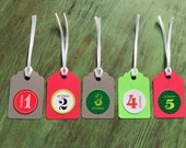 25 Days of Christmas - Advent Gift Tags - Set of 28