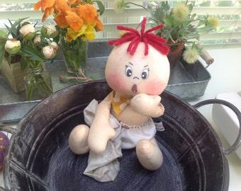Primitive raggedy Ann doll, Ollie