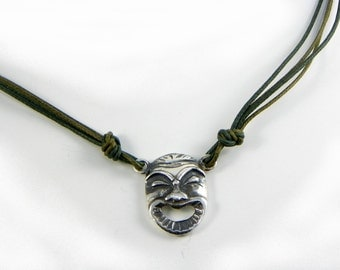 Necklace Mask Greek Theatre - Sterling Silver 925