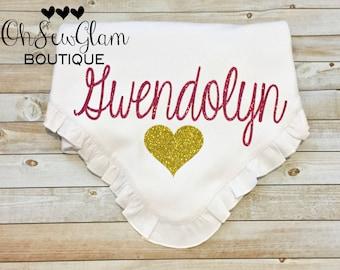Custom Baby girl blanket - Personalized Custom Blanket - Ruffle Blanket - Newborn Blanket - Baby girl -Personalized Blanket Baby Shower Gift