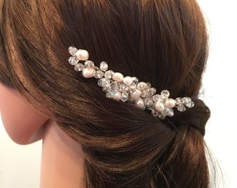 Pearl Bridal Hair Comb, Silver hair comb, wedding hair comb, hair accessories bridal, wedding headpiece, bridal headpiece, hair combs bridal