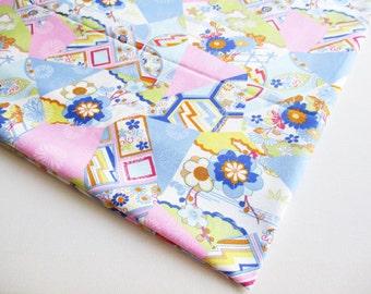 Japanese Kimono, Sakura, Sky Blue Blossom, Japanese Tradition Style, Tokyo Sense, Woman Dress, Pillow Cover, Cosmetic Bag, Curtain, JP036