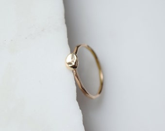 Gold Pearl Ring 14k Gold Pearl Ring Dainty Gold Ring Gold Dot Ring