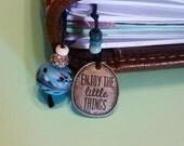 Midori/Fauxdori/Travelers Notebook personal size charm bookmark