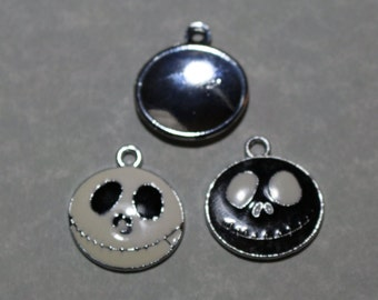 Skeleton Charm Black and White