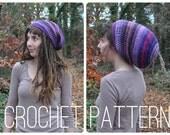 Crochet Pattern - Spiral Slouchy Hat