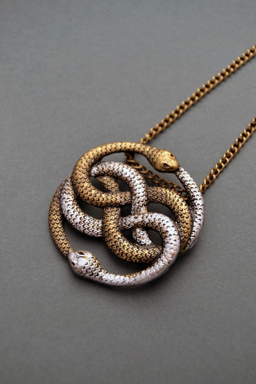 Auryn necklace Infinite snake necklace Snake jewelry Snake