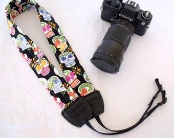 Day of the Dead Calaveras Camera Shoulder Neck Strap Padded Adjustable