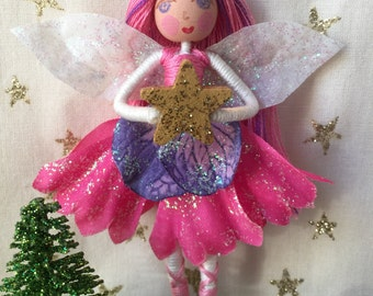Fairy ornament, Ballet ornament, Dancer ornament, Pink fairy, fairy decoration, Christmas decoration, Christmas Ornament,