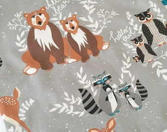 Quick Ship!...Lovey Ribbon Sensory Blanket...Grey Hello Bear with Minky...Can Be Personalized...No Loops