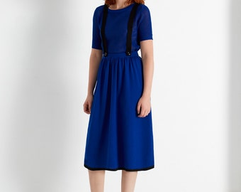 SALE! TWILIGHT overall SKIRT indigo