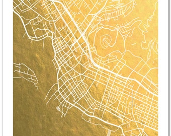 Seattle Map Gold Foil Map Of Seattle Seattle By